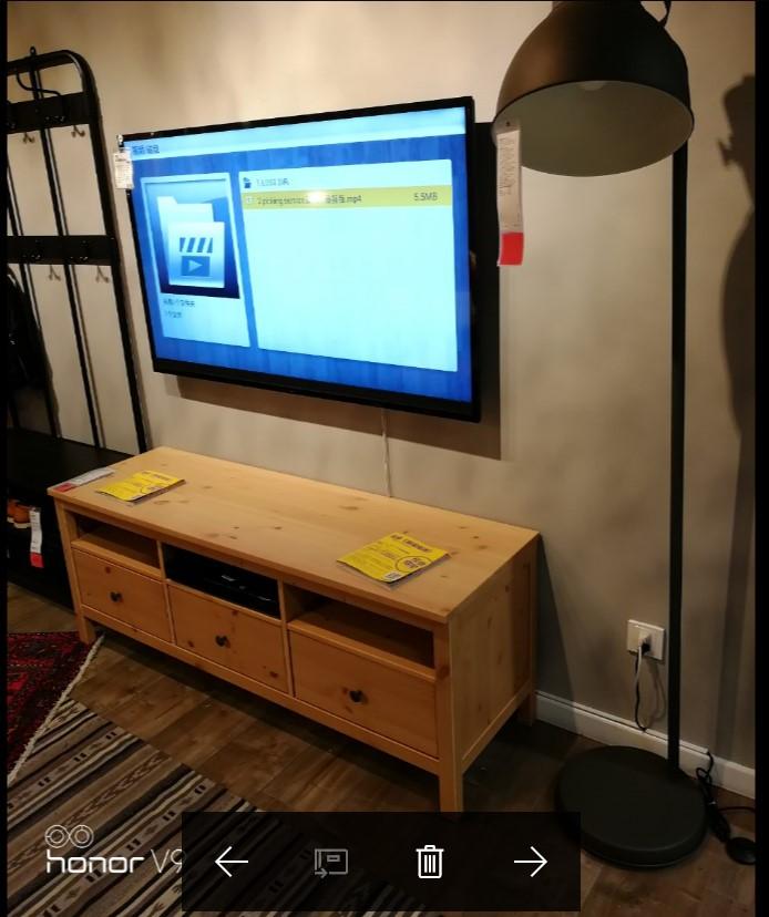 宜家 汉尼斯 电视柜实木小户型储物组合147厘米148x47x57 厘米
