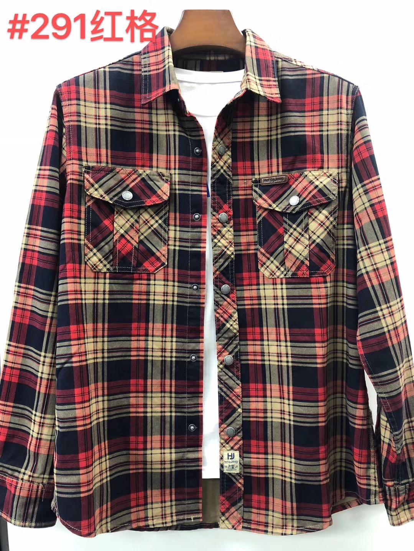 新ブランドの純綿チェックシャツ、ゆったりカジュアル大サイズの長袖シャツです。