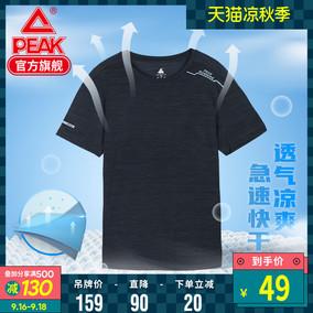 匹克运动男2020新款吸湿弹力d t恤