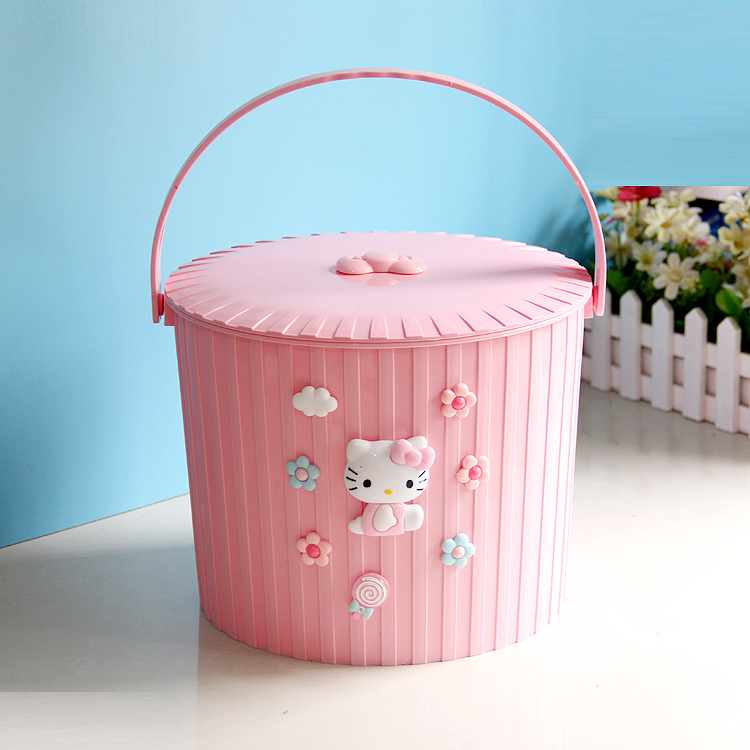 水桶凳带盖塑料加厚可坐家用储水用钓鱼水桶车载手提玩具大收纳桶