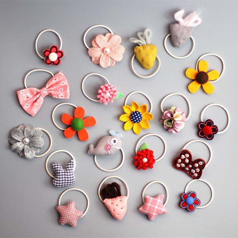 韩国儿童发饰品宝宝卡通发圈婴儿花朵皮筋小女孩发圈头绳女童头饰