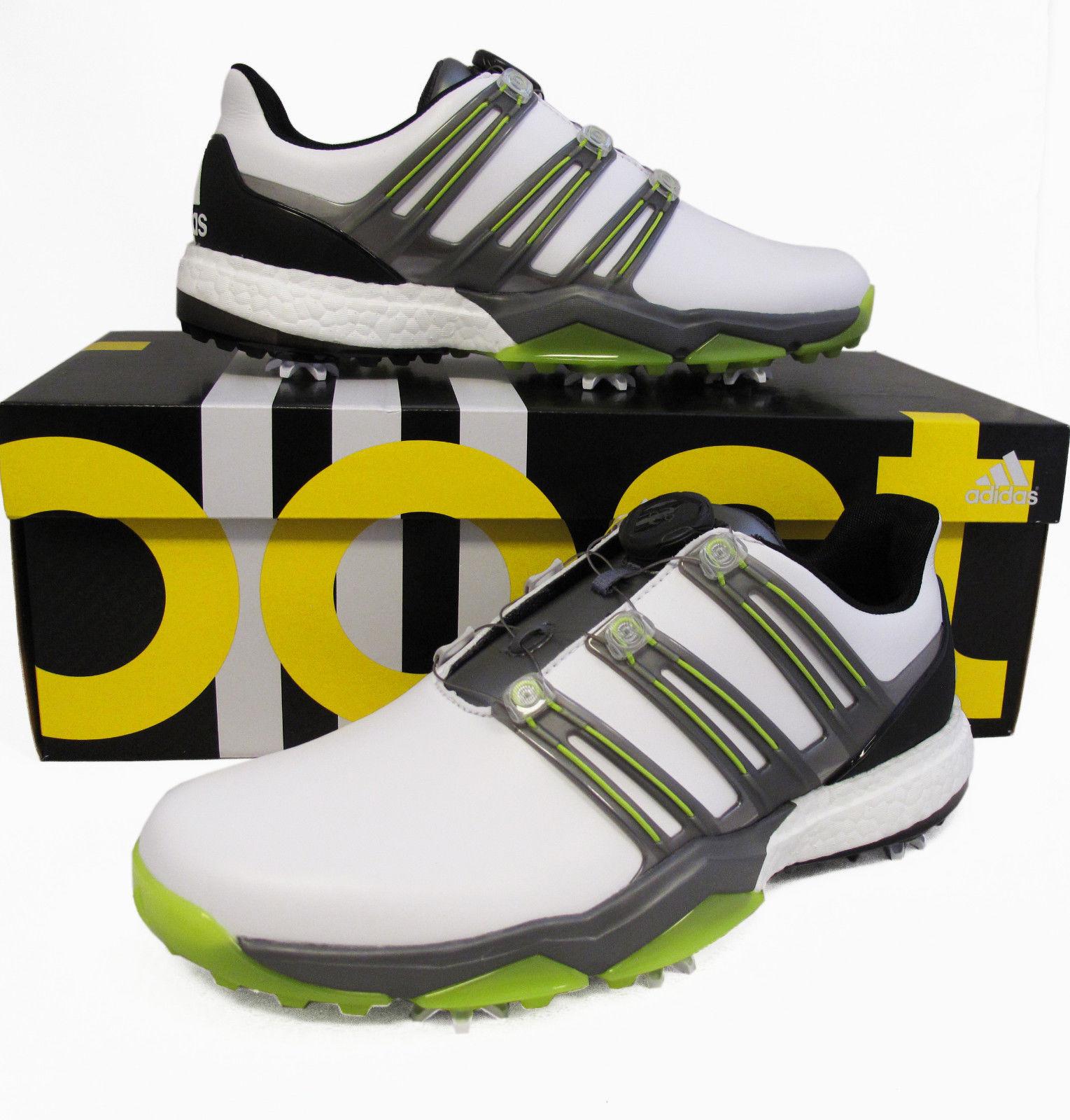 美国代购Adidas阿迪达斯专业BOA高尔夫球鞋男 Q44848防水防滑舒适