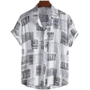 men shirts man shirt夏季短袖衬衫