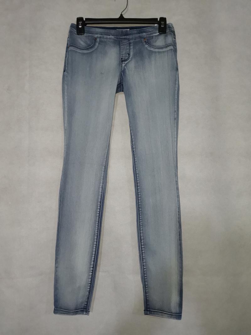 外贸原单弹力修身松紧腰薄款牛仔小脚裤大码女裤