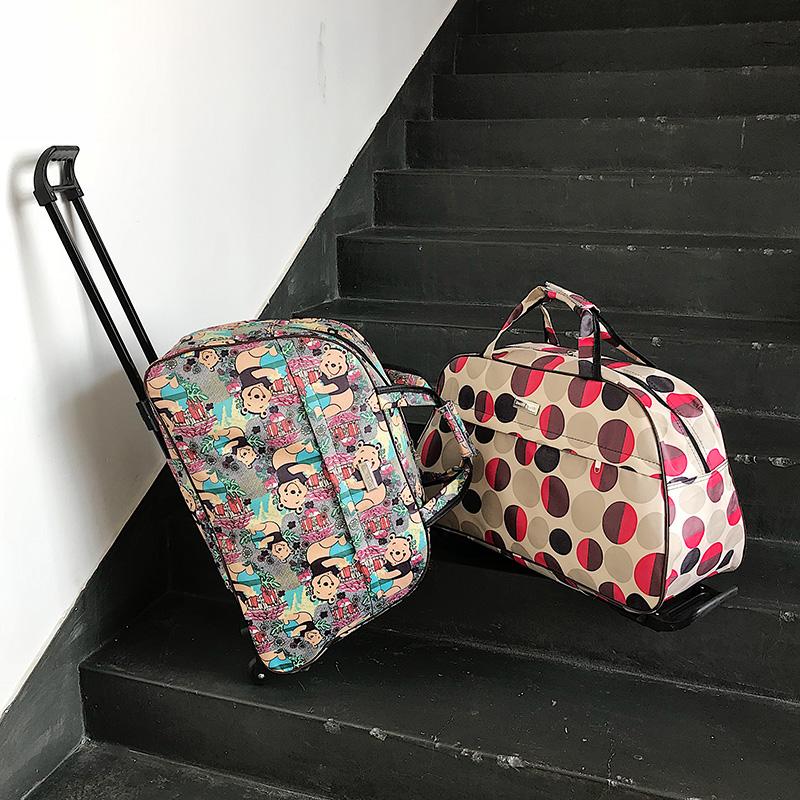 拉杆旅行包女手提包旅游包男登机箱大容量手拖包防水折叠行李包袋