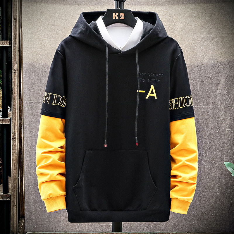18-19-20-22 years old mens long sleeve sweater hooded Pullover Sweater mens bottoming top fashion young college students
