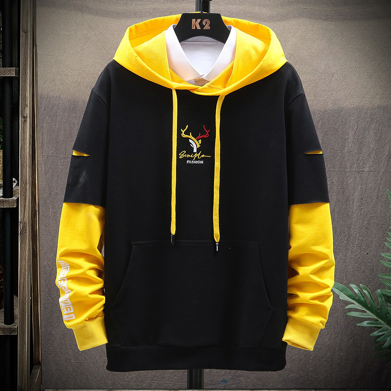 14-15-16-17 years old mens long sleeve sweater hooded Pullover Sweater mens bottoming shirt