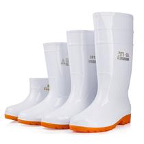大码白色雨鞋食品厂工作雨靴防滑食品卫生靴防油耐酸碱厨师水鞋