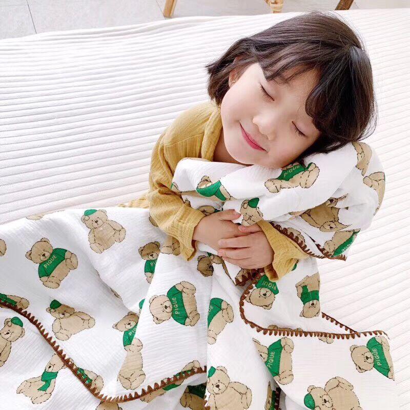 限3000张券儿童夏凉被纯棉纱布被子超柔棉花被新生儿盖被四季通用宝宝空调被