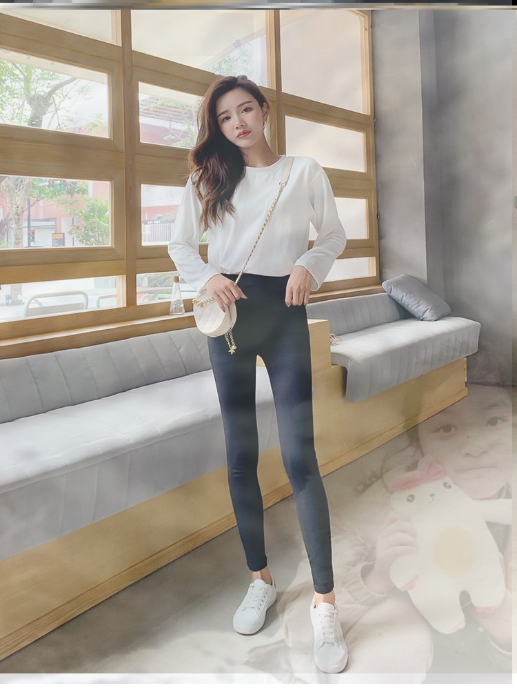 Womens warm pants outer pants cold proof South Korean trousers cashmere cashmere pants bottom pants thickened with cashmere and skirt in winter
