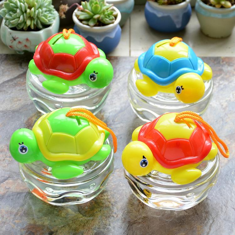 迷你小号qq鱼瓶qq龟瓶 儿童手提塑料鱼缸乌龟缸宠物盒 透气小鱼缸