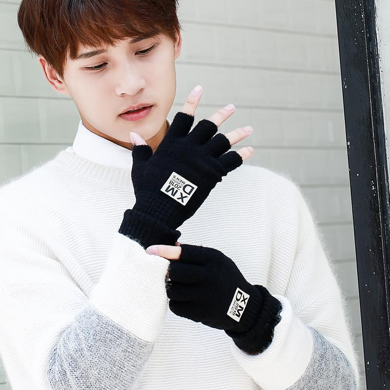 Driving fashion gloves personality hands winter fitness Korean sports a pair of male half finger open toe student Princess