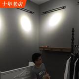 现代简约纯色北欧水泥深灰色系壁纸时尚高档专用男女装服装店墙纸