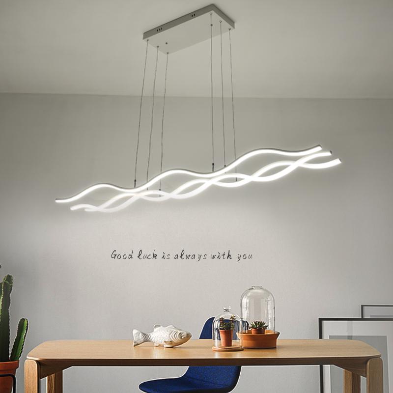 吧台长条前台楼梯办公室餐厅灯具led北欧创意个姓吊灯后现代简约