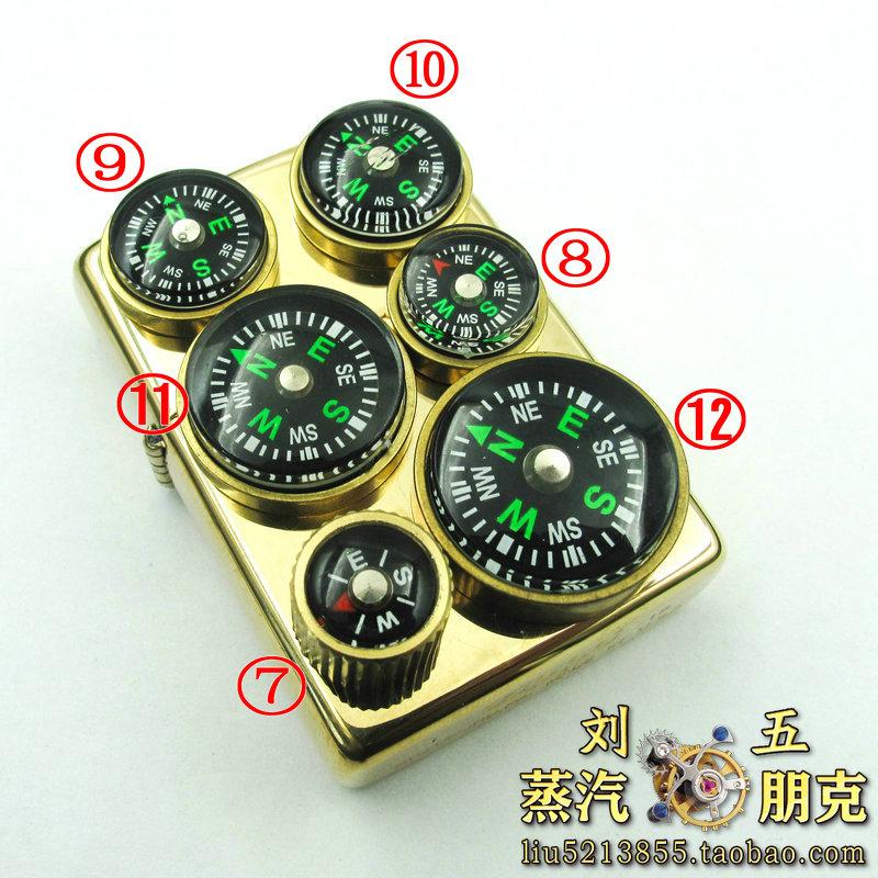 微型指南针蒸汽朋克打火机贴章铜圈指北针diy焊接配件刘五手工