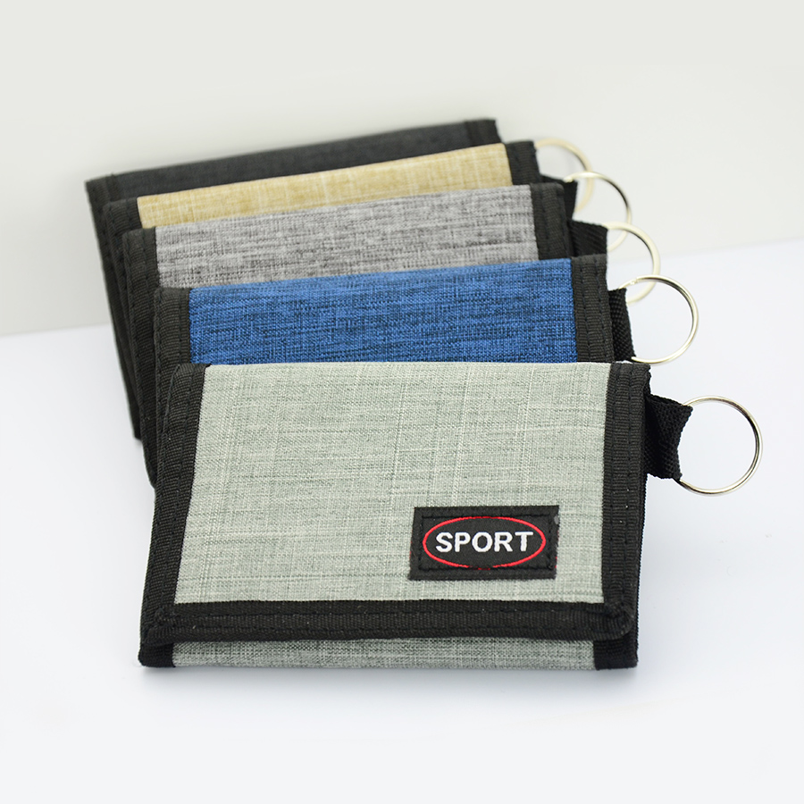 New type of practical canvas Student Wallet with small change and hanging key
