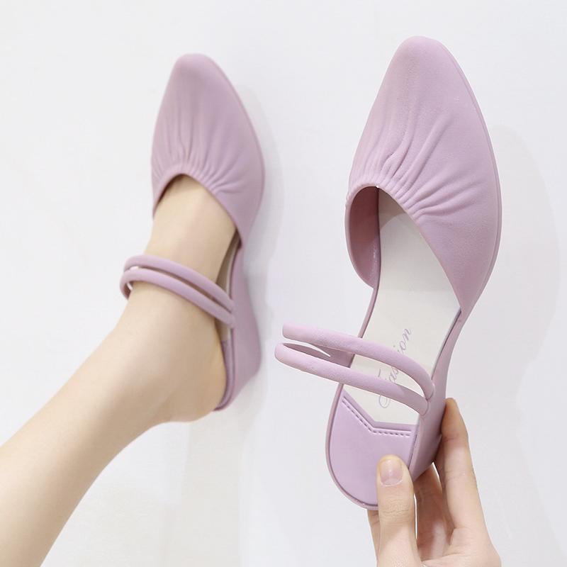 2021新款时装夏季仙女风中跟一凉鞋