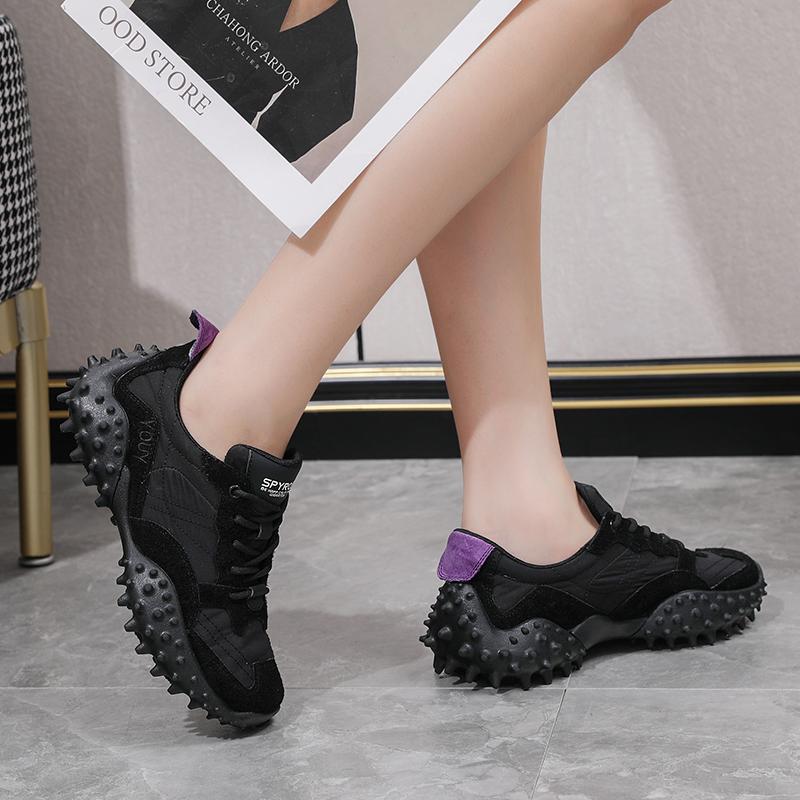 夏季拼接休闲女时尚老爹鞋舒适系带单鞋AL1220F