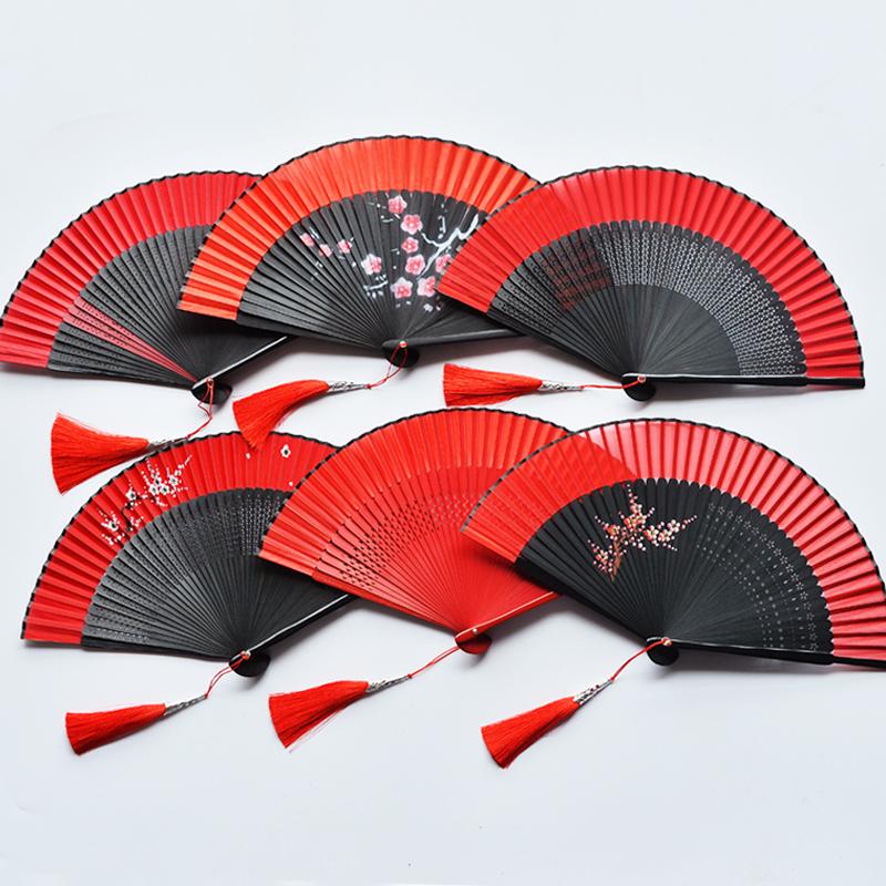 中国风古典女式随身折扇蹦迪酒吧舞蹈扇子汉服日式开合顺滑手感好 Изображение 1