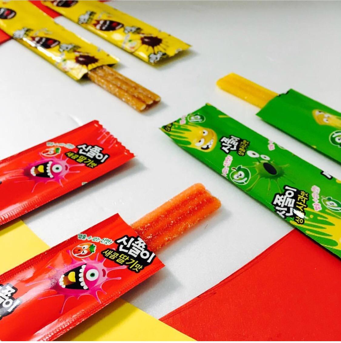 满7.50元可用1元优惠券韩国进口海太长舌头草莓味搞怪软糖