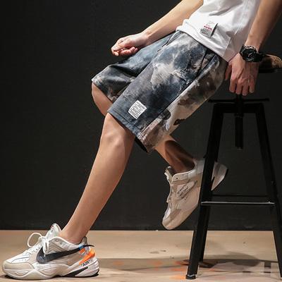 日系黑墙风男士休闲短裤迷彩宽松原创大码夏季新款 款号K548 P45