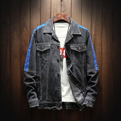 日系大码原创牛仔夹克男士木纹挂拍春季牛仔服 款号J318 P85