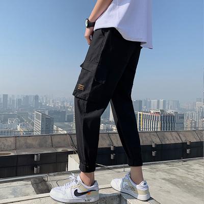 港风男士2019春季大码原创休闲小脚裤潮 款号K572 P65【控88】