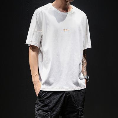 黑墙模特原创休闲男士日系圆领短袖T恤夏季新款 款号T149 P35