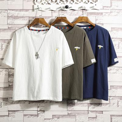 砖墙挂拍男士原创大码休闲夏季新款短袖T恤日系 款号T125 P30