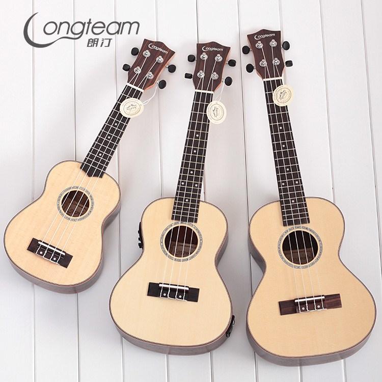 21 23 26寸乌克云杉木尤克里里 电箱玫瑰丽丽ukulele四弦琴小吉他