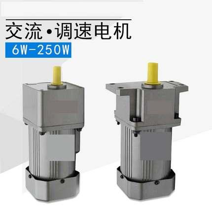 电机220v小型 两相微型调速电机慢速交流小型马达220V两相带刹车