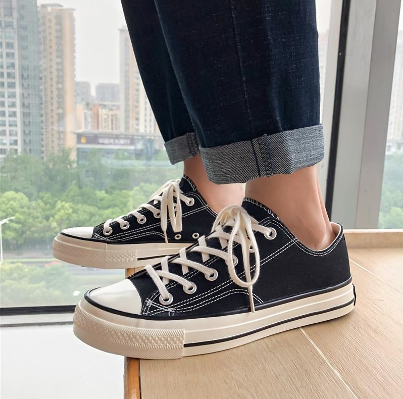 Get together and go to work mens factory professional wear resistant canvas shoes mens low top childrens show in summer 2020