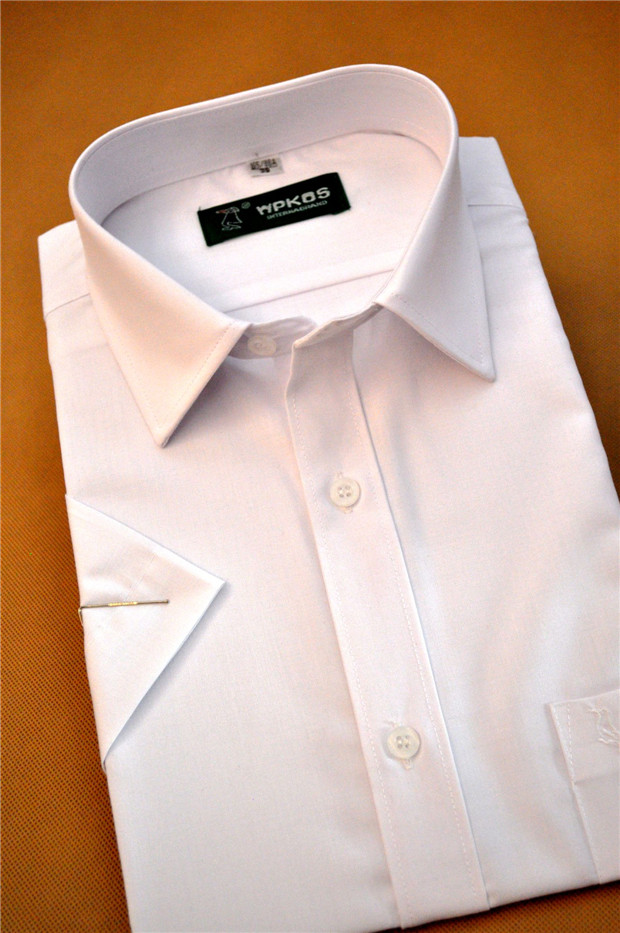 Special package mail summer mens non ironing pure white short sleeve business shirt clearance treatment pure white half sleeve shirt