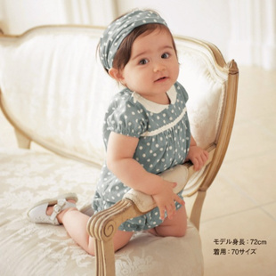 Summer ladies baby even body Romper headband two sets of small children s clothing cotton infant princess A517