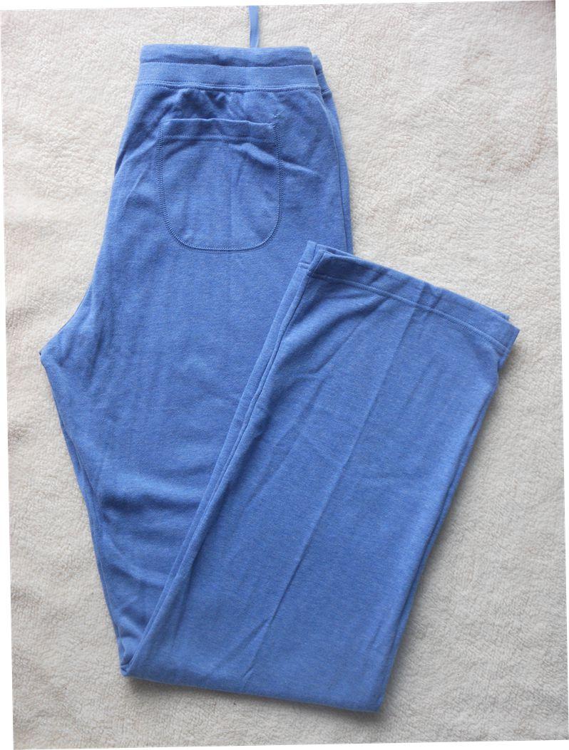 优家女装纯棉休闲长裤 女士毛圈睡裤 家居裤直筒裤休闲裤