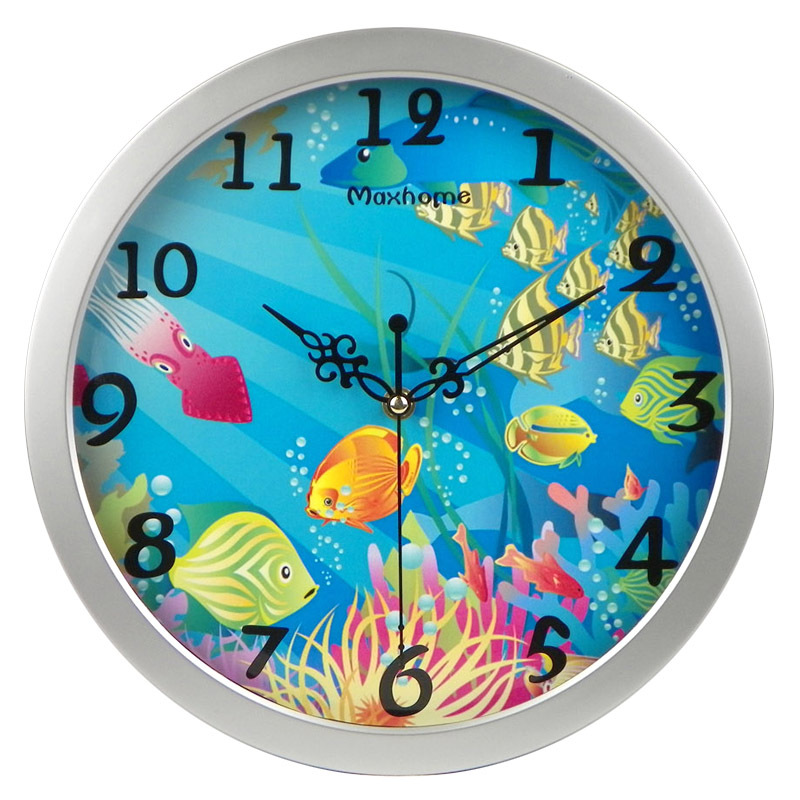 MAXHOME пастырское моды творческих гостиной часы 12-дюймовый немой пакет электронной почты спальня Цифровые Часы настенные подвесные настенные часы