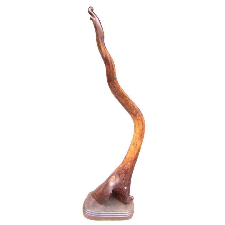 大汉九鼎 越南黄花梨笔挂 木雕工艺品摆件 越黄根雕 文房四宝用品