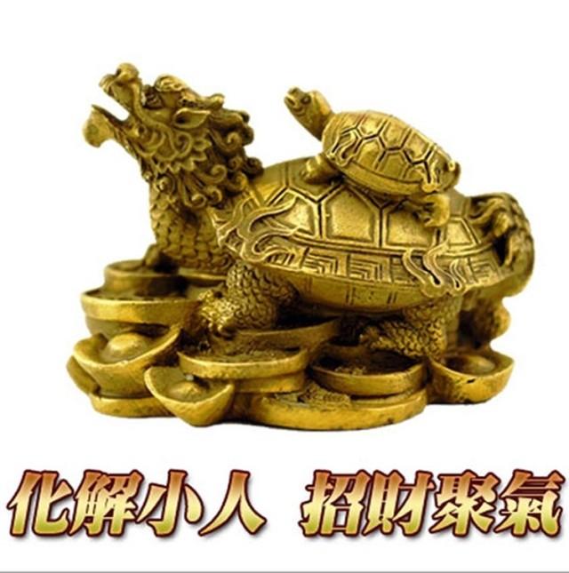 纯铜龙龟兴财摆件大号工艺品礼品办公室吉祥物开光风水龙头龟摆设