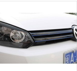 Reflective car stickers Golf 6 GOLF6 GTI R20 grille plating reflective stickers reflective strips
