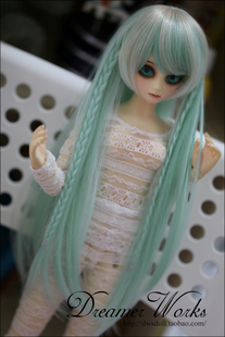 DWS BJD SD wig high temperature wire braid paragraph HT fine hair color daffodils 1 4 1 3