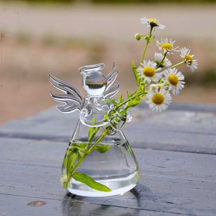 European Angel crystal clear glass vase hydroponic creative fleshy floral flower Living Room Decorations