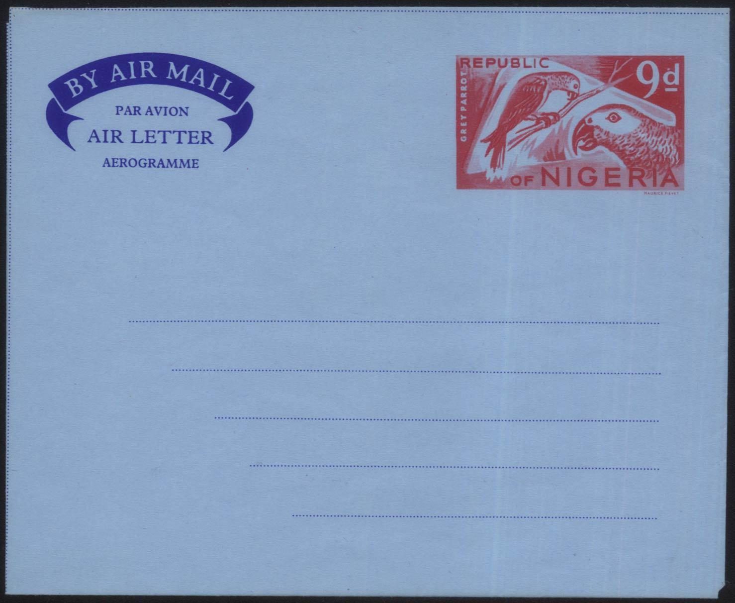 M-YJ18 нигерия день лия авиация почта простой почта капитал изображенный станция в шаттл (челнок) глава два попугай медаль