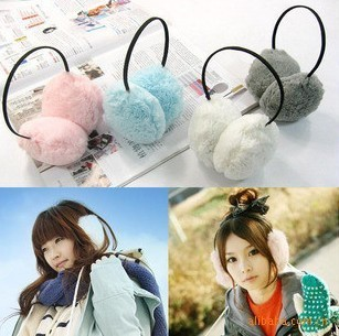 Cheap Korean version of warm fluffy earmuffs Earmuffs ear female winter warm long-haired plush earmuffs Earmuffs