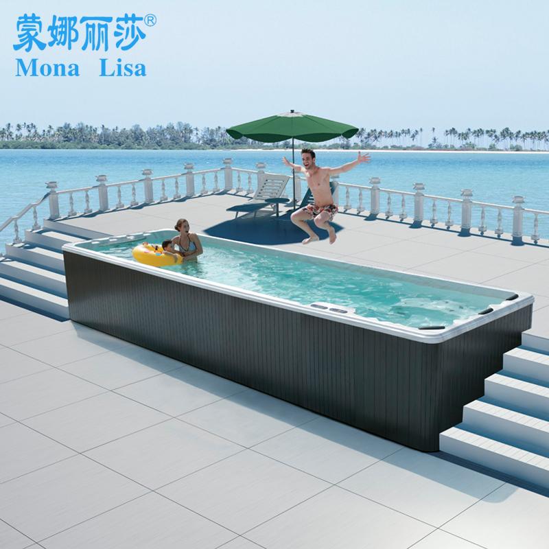蒙娜丽莎卫浴 独立式SPA户外浴缸 冲浪按摩浴缸 进口亚克力大浴缸