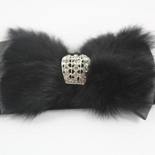 Корейская версия новой ретро алмаз лук меха кролика украшения г-жа растянуть эластичный широкий пояс поясом /