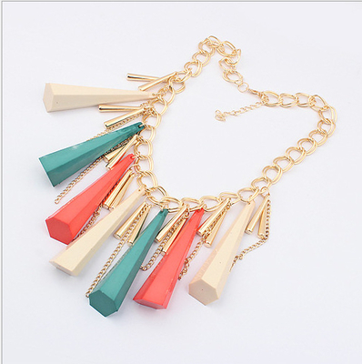 Selling the new fashion in Europe and the exaggerated cone tassel slow necklace clothing accessories accessories short necklace on sale