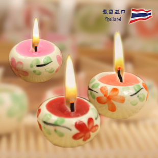 Thailand imports smokeless candles scented candles scented candles incense candle ceramic bowl candle five loaded