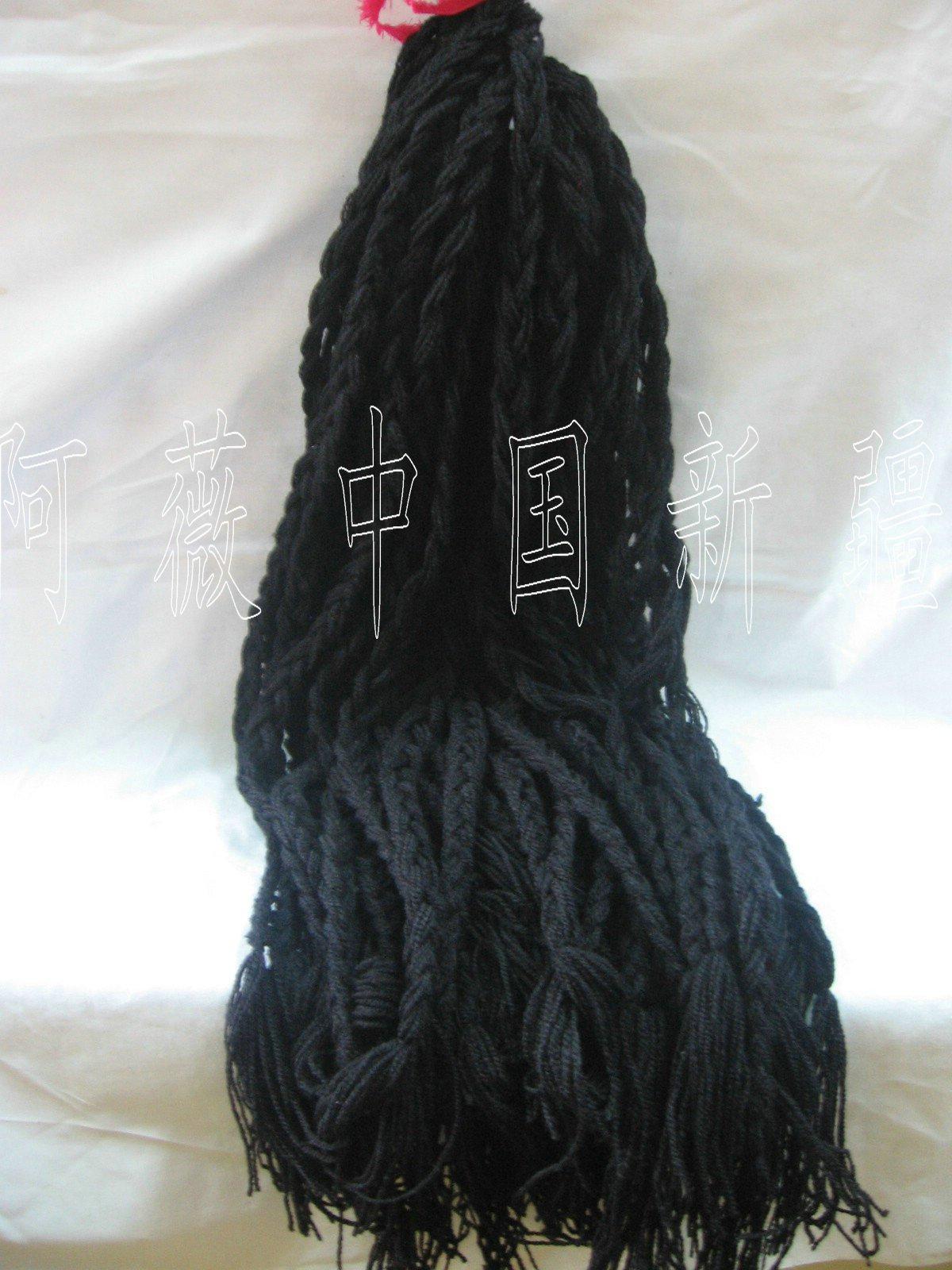 Синьцзян танец коса парик коса народ одежда народ головной убор народ танец моделирование линия коса