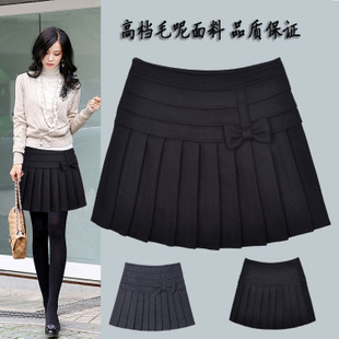 Thanksgiving 8th Street genuine new short pleated skirt was thin spring and autumn and winter woolen skirt body skirt A dress skirt Women