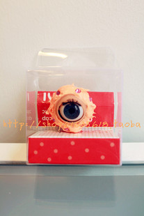 Korea rowky Japanese Harajuku pony eye cream dust plug